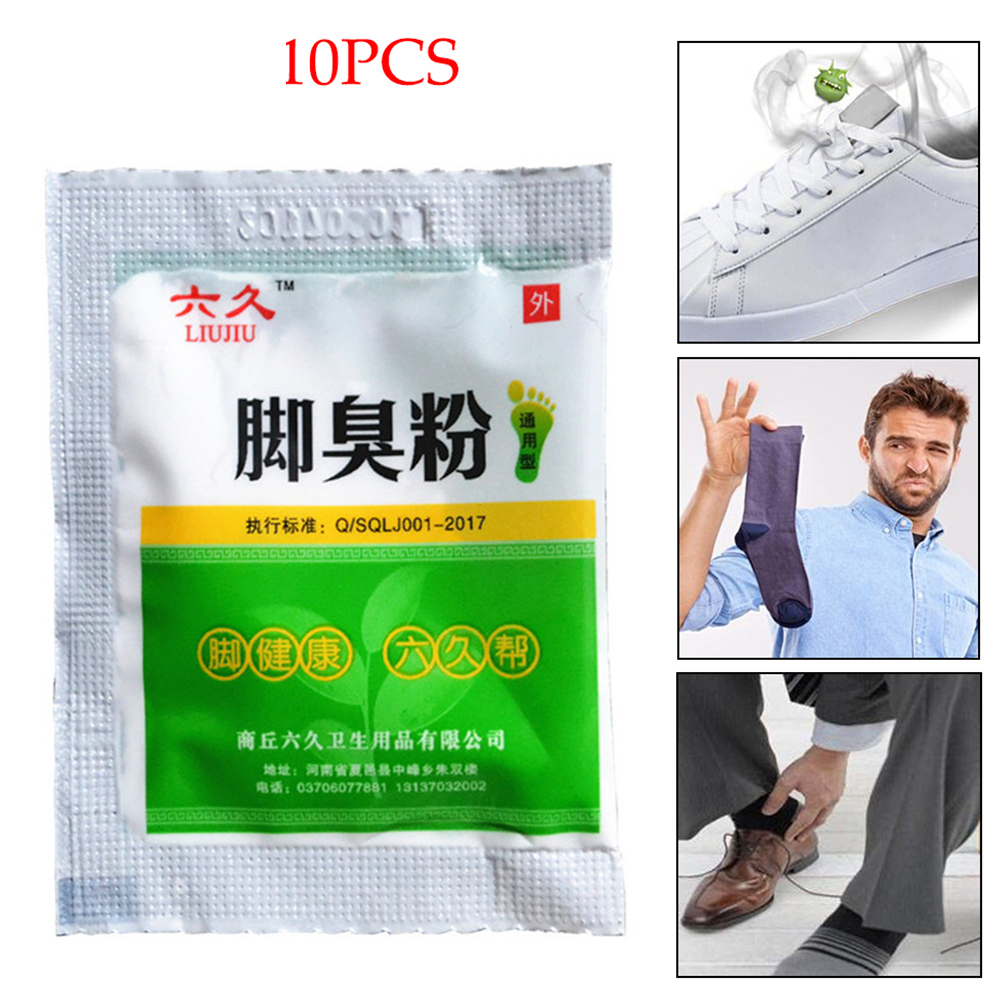 10 Bags Fungal Infections Soak Foot Bath Powder SPA Foot Care Tools Odor Remover Sweat-absorbent Fungal Infection Remove