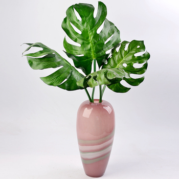 Colored Glass Vase for wedding decoration home decor pink Tabletop vases for flowers Styling of mermaid terrarium Clear