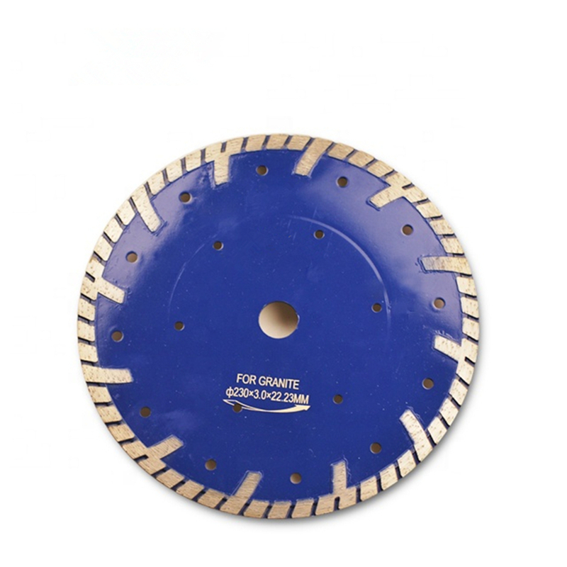 DB64 Factory Price 9 Inch D230mm Continuous Turbo Rim Cutting Blades Sintered Dry Cutting Disc 22.23mm Inner Holes 10PCS