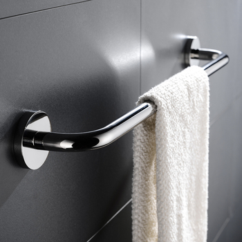 Ze stali nierdzewnej wieszak na ręczniki wieszak na ręczniki wieszak na ręczniki łazienka kuchnia do montażu na ścianie ręcznik polerowany Rack łazienka wieszak na ręczniki tanie i dobre opinie STAINLESS STEEL BA1001TBC Pierścienie ręcznik Chrome Bathroom Shower Room Restroom Kitchen Bathroom Accessories Wall Mounted