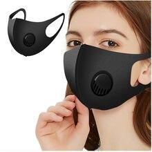 Mascarilla facial lavable y reutilizable para adultos, máscara protectora contra el polvo con válvula para exteriores, de alta calidad