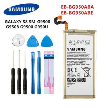 SAMSUNG Orginal EB-BG950ABE EB-BG950ABA 3000mAh battery For Samsung Galaxy S8 SM-G9508 G950T G950U/V/F/S G950A G9500 G950 +Tools battery original for samsung galaxy s8 eb bg950abe sm g9508 g9500 g950u li ion replacement batteria akku
