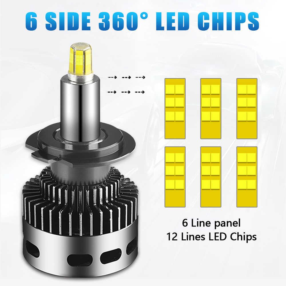 2Pcs 12 Side 3D Car Headlights 19000LM H11 H7 Canbus No Error H8 H1 HB3 9005 9006 360 degre CSP LED Bulb Automotive Fog Lamp 12V