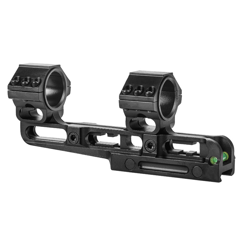 Adjustable One Piece Scope Rings 25.4mm/30mm Dual Rings Removable Scope Mount With Bubble Level Picatinny Rail Scope Accessories