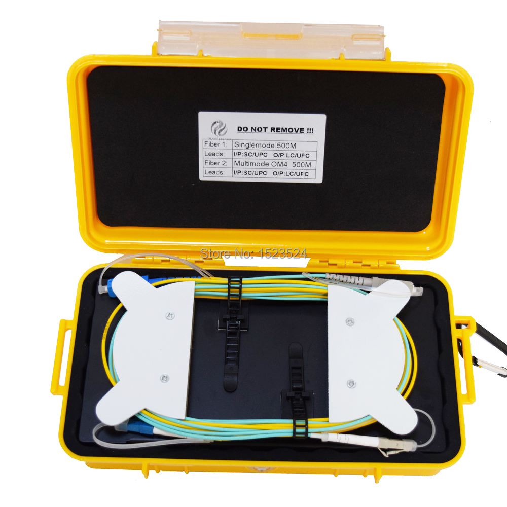 OTDR Dead Zone Eliminator,Fiber Rings ,Fiber Optic OTDR Launch Cable Box 500m OS2 + 500m OM4