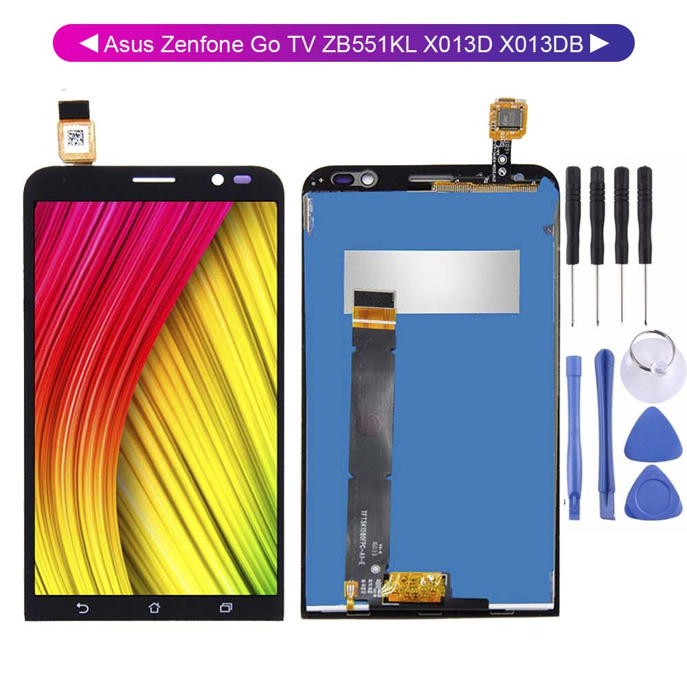 For <font><b>Asus</b></font> Zenfone Go TV ZB551KL <font><b>X013D</b></font> X013DB LCD Display Digitizer Touch Screen Sensor Assembly Replacement Parts image