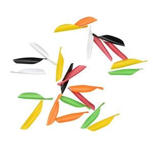Image 2 - 100 pièces tir à larc Vanes 1.75 pouces spirale plume aile droite bricolage carbone flèche aluminium flèche tir accessoires de chasse
