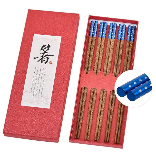 Фото 5 пар японских креативных деревянных палочек ручной работы палочки