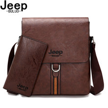JEEP BULUO – sac à bandoulière pour hommes, sacoche de marque Vintage, Design classique, noir, nouvelle collection