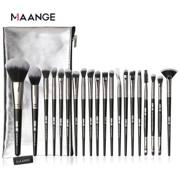 MAANGE Pro 5-20 sztuk zestaw pędzli do makijażu wielofunkcyjna szczotka Powder Eyeshadow pędzel do makijażu z przenośną skrzynka pu przybory kosmetyczne tanie i dobre opinie Włosy syntetyczne 5 12 15 18 20pcs MAG5754SB 5748 app 16 2~18 5cm Zestawy i zestawy Drewna High quality Pincel maquiagem