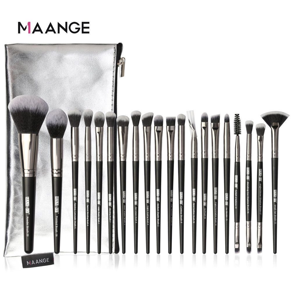 MAANGE Pro 5-20Pcs Makeup Brushes Set Multifunctional Brush Powder Eyeshadow Make Up Brush With Portable PU Case Beauty Tools