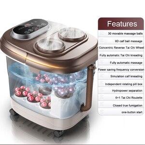 Image 1 - Voet Massage Bad Automatische Voeten Wastafel Elektrische Verwarming Machine Thuisgebruik Vingers Kneden Begassing Massage Tai Chi Kneden Spa