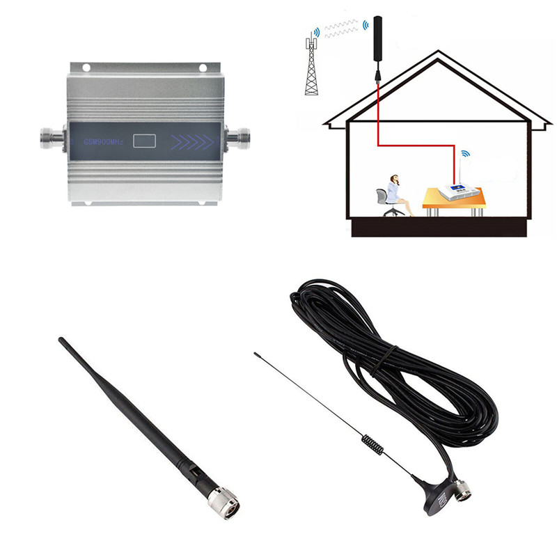 900Mhz GSM 2G/3G/4G Signal Booster MOBILE PHONE Amplifier Repeater Antenna, 900Mhz GSM Amplifier+Antenna For Phone US/EU/UK Plug 2