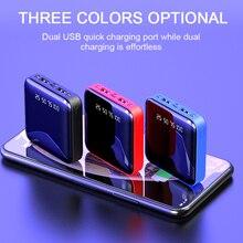 New Mini 30000mAh Power Bank For iPhone 8 Xiaomi Mi Powerbank Quick Charger Dual Usb Ports