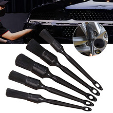 5Pcs Car Wash Brush Wheel Cleaning Brush Set Long Handle Car Cleaning Interior Details Auto Cleaning Wash Tools Car Accessories