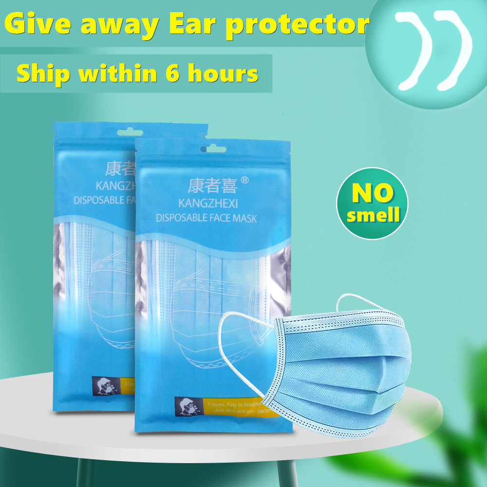 Disposable 100-piece Disposable Masks Within 6 Hours, 3-layer Meltblown Cloth Masks, Dust-proof Earhook Masks