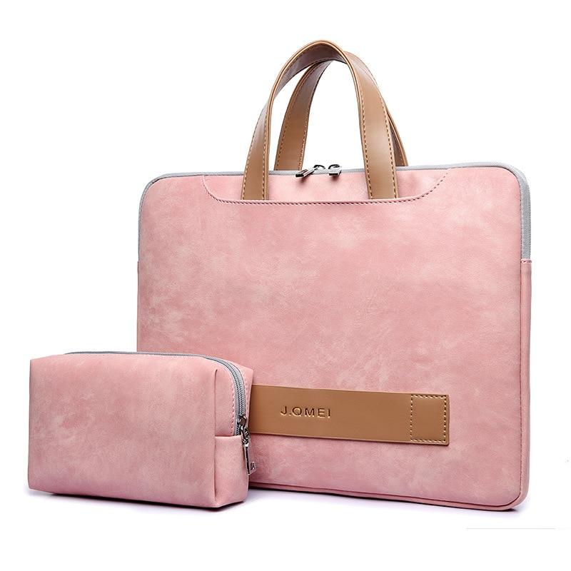Portable Light Pu Leather Laptop Bag For Women 13.3-15.6 Inch Women's Briefcase Laptop Handbag Woman Totes Notebook Bag Business