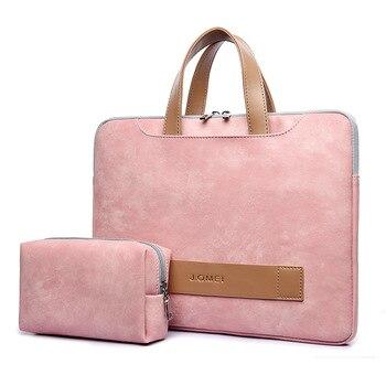 Tragbare Licht Pu Leder Laptop Tasche für Frauen 13,3-15,6 Inch frauen Aktentasche Laptop Handtasche Frau Totes Notebook tasche Business