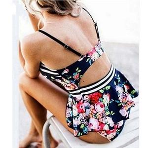Image 2 - בגדי ים נשים ביקיני 2020 Mujer ללא משענת לדחוף את ביקיני חליפת שחייה בתוספת גודל Tankinis רחצה חליפות Biquini XXL