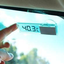 Termómetro Digital LCD inteligente para coche, accesorios para audi e-tron, Seat Ateca, Alfa Romeo, Stelvio, Mazda 6, cx3, cx5, CX-5, cx7, 1 Uds.