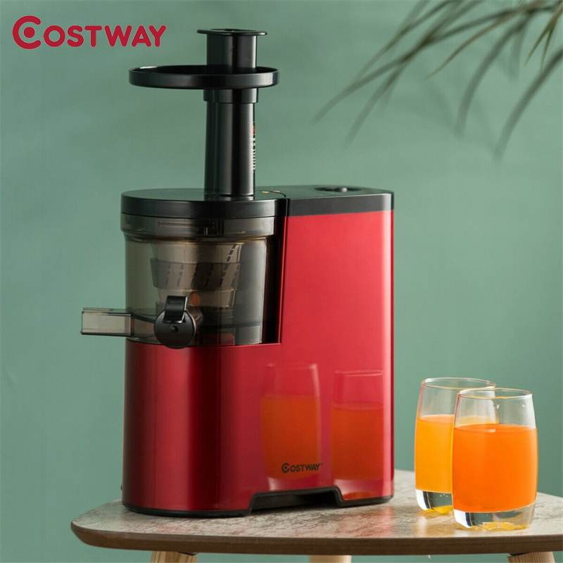 Costway Slow Fruit Vegetable Masticating Juicer Cold Press Extractor Nonslip Pads Waterproof Switch Slow Juicer Machine EP24000
