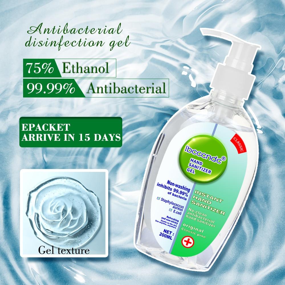 200ml Anti Bacterial Disposable Hand Sanitizer Hand Disinfection Gel Quick Dry Handgel 75 Ethanol for Kids Innrech Market.com