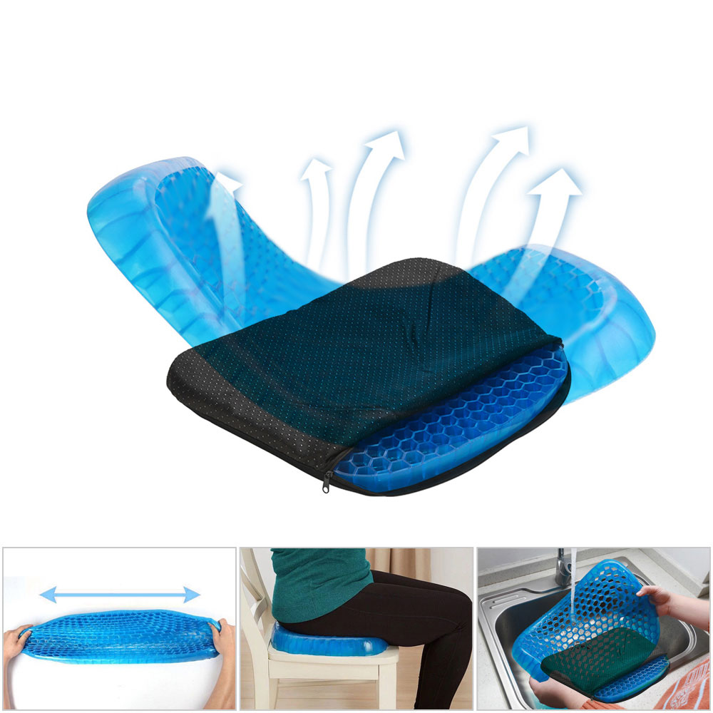 Big Size Flexible Gel Seat Cushion For Baby Adult Comfortable Car Cushion Health Care Pain Release Pad Breathable Mat For Summer