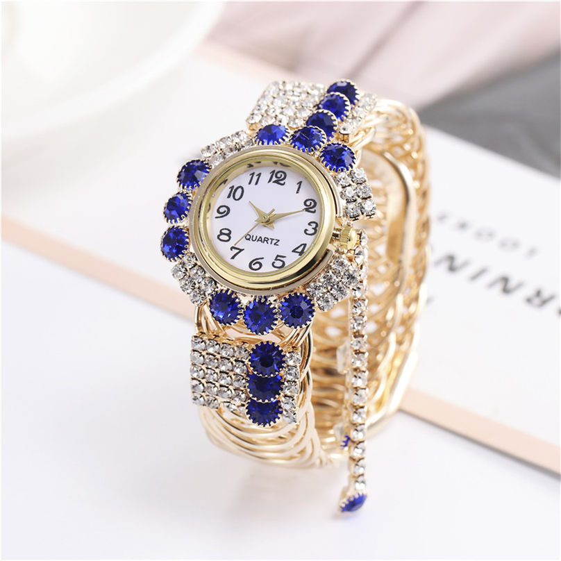 Khorasan Luxury Alloy Fashion Casual Women Watch Creative Fringe Quartz Bracelet Watches 3D13 (1)
