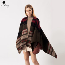 Poncho Feminino Inverno Cardigan Cape Winter Cachemire Scarf Women Luxury Brand Scarves Shawls Wraps abrigos mujer invierno 2019(China)