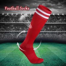 Hot High Boy Long Football Socks Baseball Knee Striped Unisex Sports Men Women tube