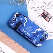 Capa para nintendo switch, capa com case protetor de cristal resistente, acessórios para nintendo switch