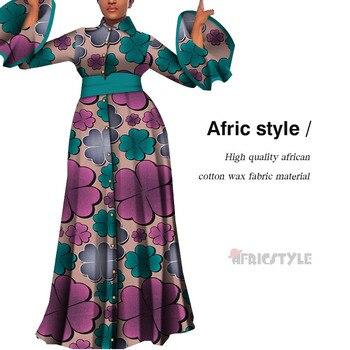 2020 Vestidos africanos para mujeres estampado drapeado vestidos largos rectos Bain Riche africano Ankara vestidos chal WY5483