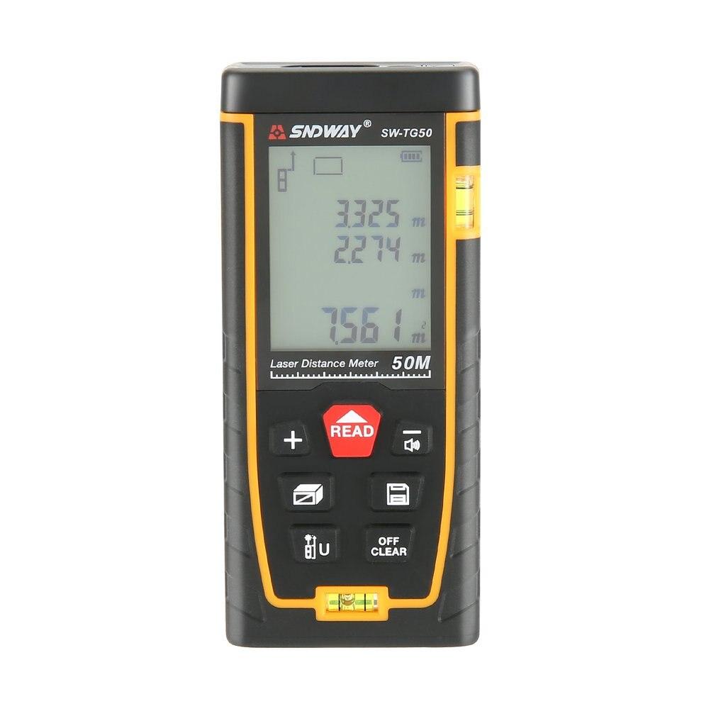 SNDWAY Doppel Horizontale Blase Entfernungsmesser Laser Abstand Meter Reichweite Batterie Betriebene Hand Werkzeug Gerät SW-TG50 70 100 120M