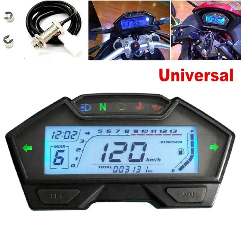 Motorcycle 13000RPM Speedometer Odometer Tachometer Fuel Level Display Motorcycle Meter