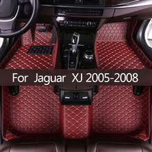 Esteiras do assoalho do carro para jaguar xj 2005 2006 2007 2008 personalizado pé almofadas