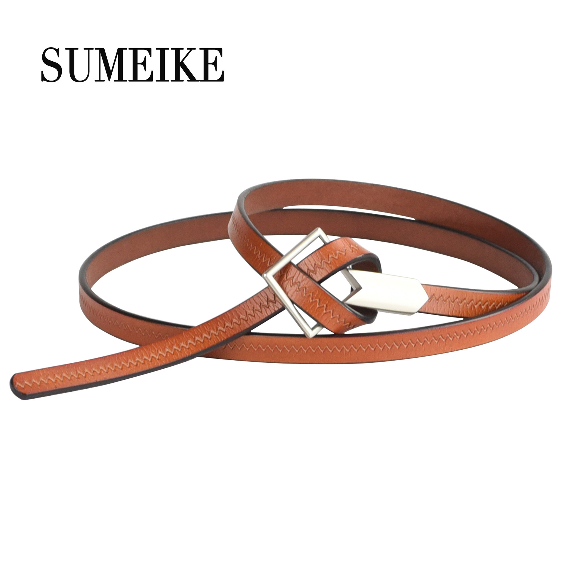 Skirt Belt Accessories Versatile Dress Leather Belt-Style Simple Genuine Leather Fine Belt Women's