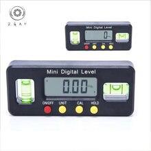 Миниатюрная Электронная линейка уровня с цифровым дисплеем горизонтальный