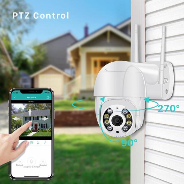 Mini caméra de Surveillance PTZ IP Wifi hd 5MP, dispositif de sécurité sans fil, avec suivi automatique, codec H.265, Zoom numérique x4, ia, détection humaine 6
