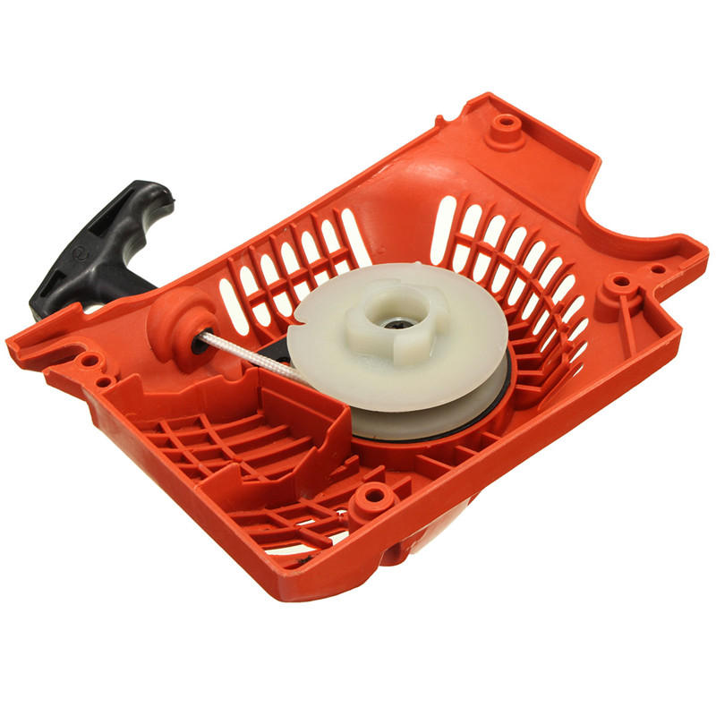 cheapest Recoil Pull Starter For Chinese Chainsaw 4500 5200 5800 45 52cc 58cc Raptor Red Lawn Mower Starter