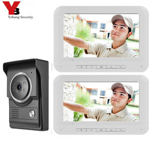 """Image 2 - Yobang Security 7"""" Color Screen Home Video Interphone Doorphone Bell Kits Home Families Door Access Control Intercom Systems"""