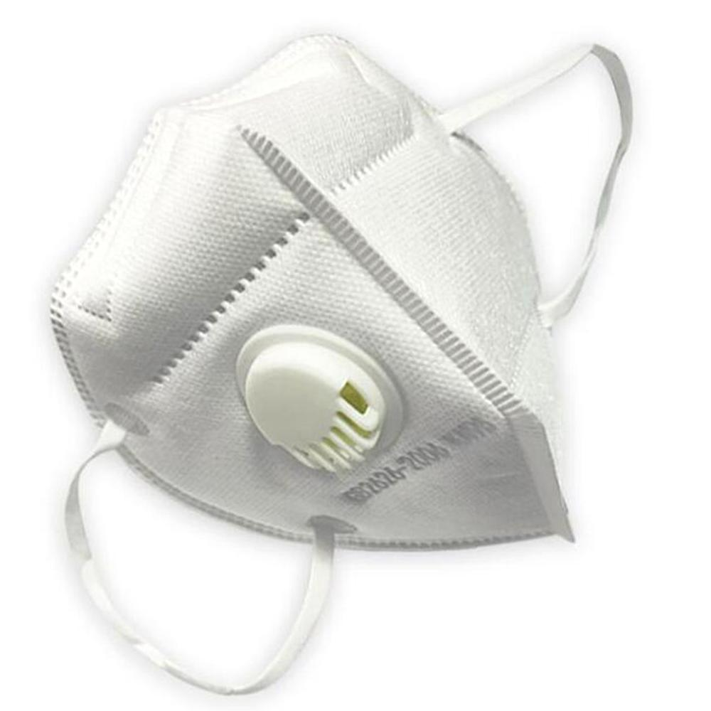 5-layer KN95 Mask With Breathing Valve Filter Protective Fold Masks Anti Pollution Dust Respirator Masks For Allergy/Asthma