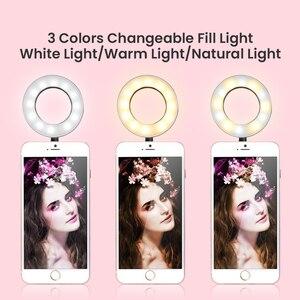 Image 2 - Gậy Chụp Hình Selfie Vòng Ánh Sáng Với Cánh Tay Dài Lười Di Động Điện Thoại Chân Đế Chụp Ảnh Ringlight LED Cho Youtube Tik Tok Sống dòng