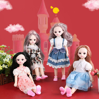 BJD Doll Clothes Shoes 1/6 30cm 23 Moveable Joints Beautiful Princess Long Hair Make-up Nude Body Fashion Dolls Toys for Girls