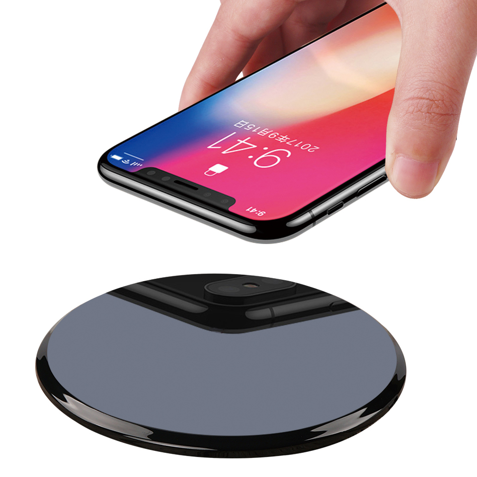 QI K6 mirror desktop mobile phone wireless charger transmitter 10W fast charge FOR: iphone Samsung Huawei xiaomi OPPO