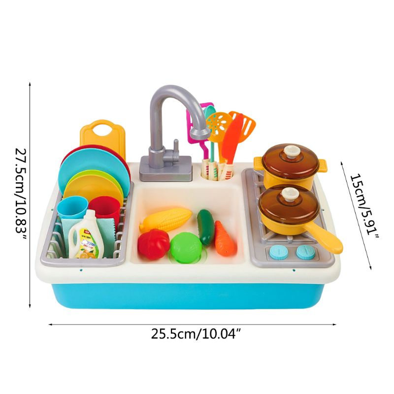 Children Simulation Plastic Electric Dishwasher Sink Pretend Play Kitchen Toys Kids Early Education Birthday Gifts Q6PD