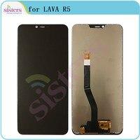 Lcd para lava r5 tela lcd para lava r5 tela de toque digitador da tela reparo do telefone parte substituição original testado trabalho