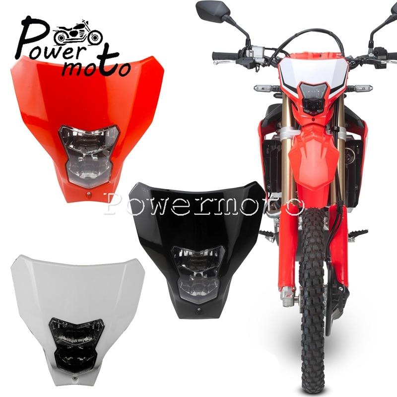 Redmoto Off Road Dual Sport Motocross Headlight CRF E13 Running Head Lamp For Honda CRF450L CRF250 XR650 CRF XR 50F/110F/250/450