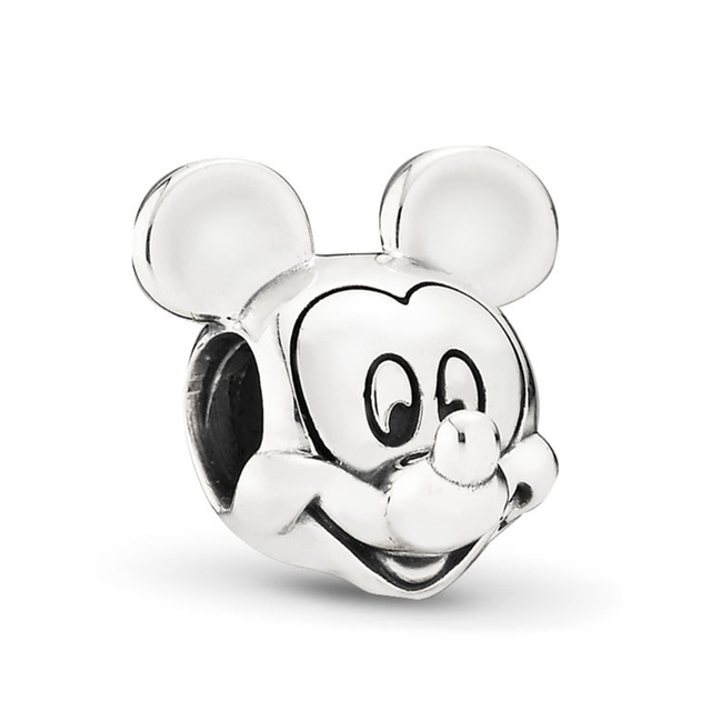 BAOPON 2Pcs/lot Cartoon Mickey Minnie Beads Fits Pandora Bracelet Necklace DIY Making Charms Bracelet For Women Jewelry Gifts