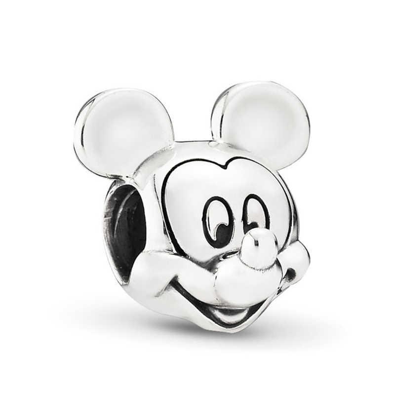 Baopon 2 Cái/lốc Hoạt Hình Mickey Minnie Hạt Phù Hợp Với Vòng Tay Pandora Vòng Cổ DIY Làm Vòng Tay Vòng Tay Dành Cho Nữ Trang Sức Quà Tặng