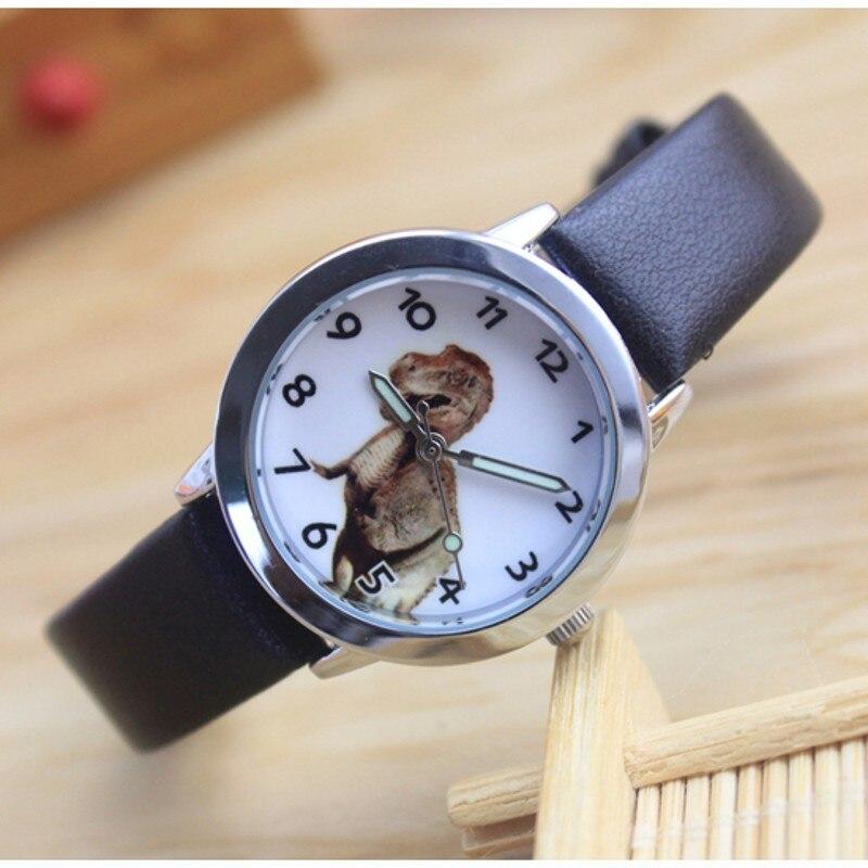 Nova marca estudantes dinossauro padrão crianças relógios causal quartzo relógio de pulso 3d dos desenhos animados menino relogio montres kol saati